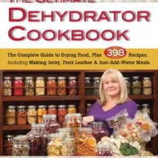 Button to purchase The Ultimate Dehydrator Cookbook to learn to dehydrate food