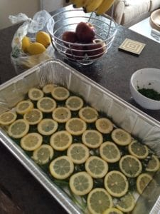 Image showing the preparation of Dehydrated Dill Infused Salmon